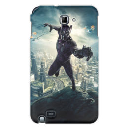 """Чехол для Samsung Galaxy Note """"Чёрная пантера"""" - marvel, мстители, марвел, черная пантера, black panther"""