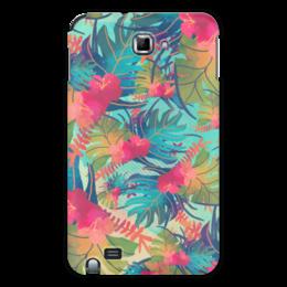 """Чехол для Samsung Galaxy Note """"Джунгли"""" - цветы, лес, краски, акварель, джунгли"""