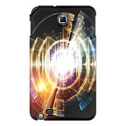 """Чехол для Samsung Galaxy Note """"Абстракция"""" - узор, огонь, круг, абстракция, молния"""