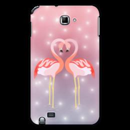"Чехол для Samsung Galaxy Note ""Влюбленные фламинго"" - любовь, фламинго"