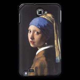 """Чехол для Samsung Galaxy Note """"Девушка с жемчужной серёжкой (Ян Вермеер)"""" - картина, портрет, вермеер"""