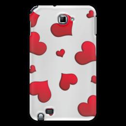 "Чехол для Samsung Galaxy Note ""Сердечки"" - сердце, любовь, сердечки, красное"