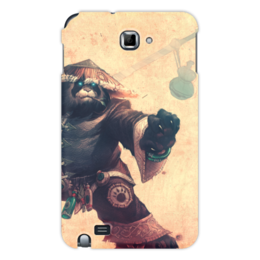 "Чехол для Samsung Galaxy Note ""WarCraft Collection: panda"" - панда, wow, dota, warcraft, дота"