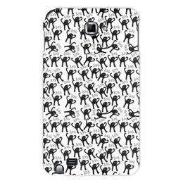 """Чехол для Samsung Galaxy Note """"ЪУЪ ЪУЪ"""" - мемы, черный кот, cursed cat, мем с котом, ъуъ съука"""