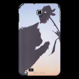 """Чехол для Samsung Galaxy Note """"Glad & Curly """" - кошка, популярные, дизайн, в подарок, оригинально, девушке, котик, нежность, креативно, авторские чехлы"""