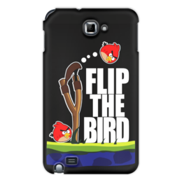 "Чехол для Samsung Galaxy Note ""Flip The Bird"" - злые птицы, flip the bird"