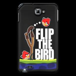 "Чехол для Samsung Galaxy Note ""Flip The Bird"" - злые птицы, flip the bird"