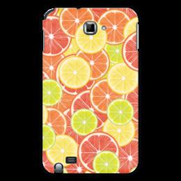 """Чехол для Samsung Galaxy Note """"Цитрусы"""" - апельсин, лайм, лимон, грейпфрут, дольки"""