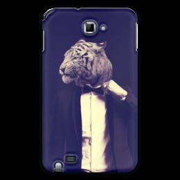 """Чехол для Samsung Galaxy Note """"Tiger Style"""" - стиль, человек, коллаж, тигр"""
