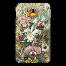 """Чехол для Samsung Galaxy Note """"Орхидеи (Orchideae, Ernst Haeckel)"""" - цветы, картина, орхидея, красота форм в природе, эрнст геккель"""