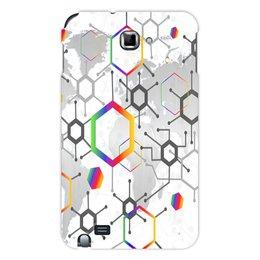 "Чехол для Samsung Galaxy Note ""Формула"" - узор, текстура, формула, химия, молекулы"