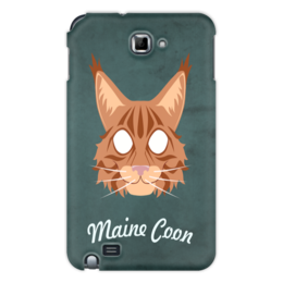 "Чехол для Samsung Galaxy Note ""Maine Coon"" - кот, арт, cat, maine coon, мейн-кун"