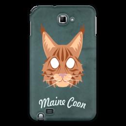 "Чехол для Samsung Galaxy Note ""Maine Coon"" - кот, арт, cat, maine coon, мейн-кун"