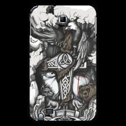 """Чехол для Samsung Galaxy Note """"Великий Один"""" - один, мифы, бог, викинги, путь воина"""