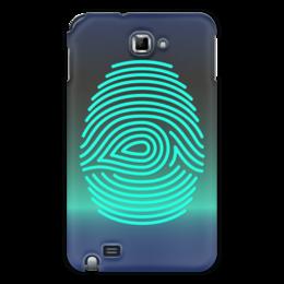 "Чехол для Samsung Galaxy Note ""Отпечаток пальца"" - рука, рисунок, пальцы, стильный, отпечаток"