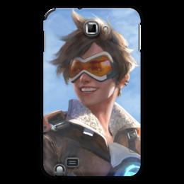 """Чехол для Samsung Galaxy Note """"Трейсер"""" - blizzard, близзард, overwatch, овервотч, tracer"""