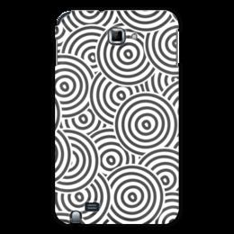 """Чехол для Samsung Galaxy Note """"Радиальный"""" - узор, орнамент, стильный, круги, кольца"""