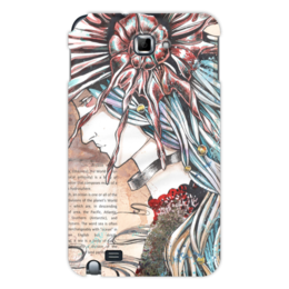 "Чехол для Samsung Galaxy Note ""Морская богиня "" - девушка, море, ракушка, морская, seashell"