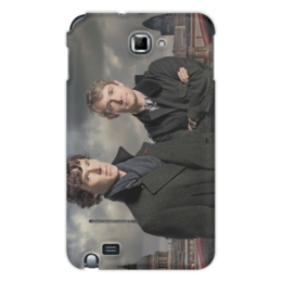 "Чехол для Samsung Galaxy Note ""Шерлок и Джон"" - лондон, англия, сериал, холмс, ватсон"