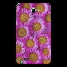 "Чехол для Samsung Galaxy Note ""Астры"" - цветы, желтый, розовый, лепесток, астры"