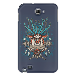 """Чехол для Samsung Galaxy Note """"Forest Spirit. Лесной Дух"""" - лесной дух, рисунок, фэнтэзи, олень"""