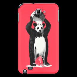 "Чехол для Samsung Galaxy Note ""Панда в краске"" - bear, медведь, панда, panda, краска"