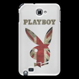"""Чехол для Samsung Galaxy Note """"Playboy Британский флаг"""" - playboy, плейбой, зайчик, великобритания, плэйбой"""