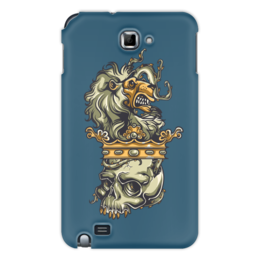 "Чехол для Samsung Galaxy Note ""Череп и лев"" - череп, лев, корона"