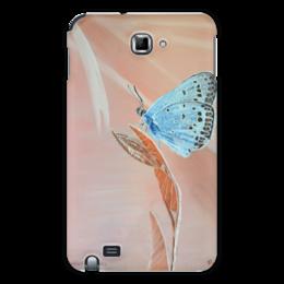 "Чехол для Samsung Galaxy Note ""Бабочка"" - бабочка, цветы, красота, оригинально, природа"