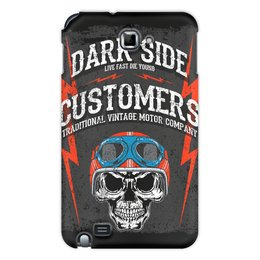 "Чехол для Samsung Galaxy Note ""Dark Side"" - череп, авто, мотоциклы, дарк сайд, dark side customers"