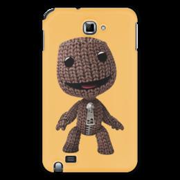 """Чехол для Samsung Galaxy Note """"Сэкбой"""" - кукла, плейстейшн, человечек, платформер, тряпичный"""