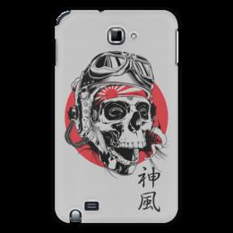 """Чехол для Samsung Galaxy Note """"Камикадзе"""" - япония, иероглифы, камикадзе, божественный ветер"""