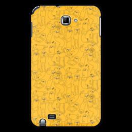 "Чехол для Samsung Galaxy Note "" Джейк Пёс. Время приключений"" - adventure time, время приключений, finn and jake, финн и джейк, джейк пёс"
