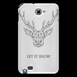 """Чехол для Samsung Galaxy Note """"Dear Deer"""" - рисунок, дизайн, олень, минимализм, рога"""