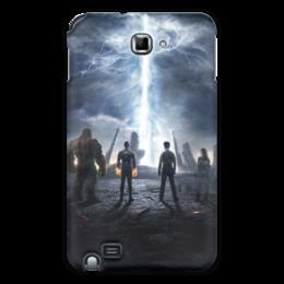 """Чехол для Samsung Galaxy Note """"Фантастическая четверка"""" - комиксы, супергерои, marvel, марвел, fantastic four"""