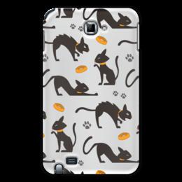 "Чехол для Samsung Galaxy Note ""Чёрные кошки"" - кот, кошка, животные, коты, котёнок"