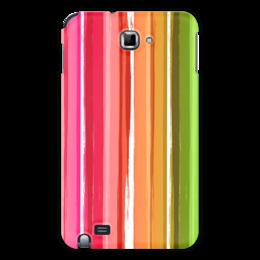 """Чехол для Samsung Galaxy Note """"Радуга"""" - узор, радуга, рисунок, полосатый, красочный"""