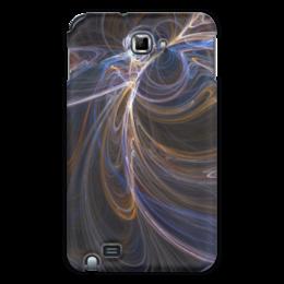 """Чехол для Samsung Galaxy Note """"Абстрактный дизайн"""" - абстракция, линии, фрактал, лучи, фигуры"""