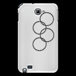 """Чехол для Samsung Galaxy Note """"Нераскрывшееся кольцо (снежинка)"""" - олимпиада, сочи 2014, нераскрывшееся кольцо, эрнст, нераскрывшаяся снежинка, олимпийская эмблема"""