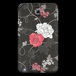 """Чехол для Samsung Galaxy Note """"Красная и белая розы"""" - цветы, белое, красное, розы"""