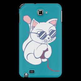 "Чехол для Samsung Galaxy Note ""Котенок с клубком"" - кот, кошка, котенок, очки, клубок"