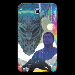 "Чехол для Samsung Galaxy Note ""Черная пантера"" - комиксы, марвел, черная пантера, black panther"