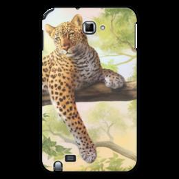 "Чехол для Samsung Galaxy Note ""Леопард"" - рисунок, природа, леопард"