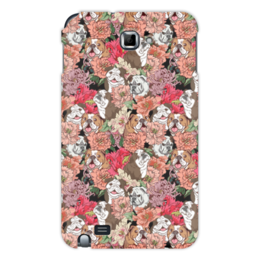"Чехол для Samsung Galaxy Note ""Dogs and flowers"" - цветы, dog, summer, собака, boxer"