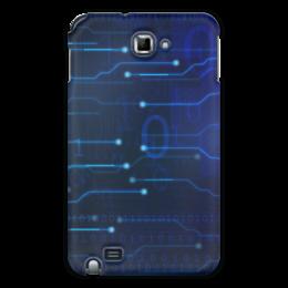 "Чехол для Samsung Galaxy Note ""Матрица"" - компьютер, матрица, чип, микросхема, электронный"