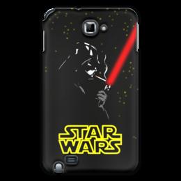 "Чехол для Samsung Galaxy Note ""Darth Vader smokes!!!"" - star wars, darth vader, дарт вейдер, звёздные войны, лазерный меч"