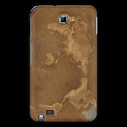 """Чехол для Samsung Galaxy Note """"Карта мира"""" - рисунок, страны, города, карта мира"""