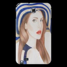 """Чехол для Samsung Galaxy Note """"LanaDelRey"""" - портрет, певица, lana del rey, лана дель рей"""