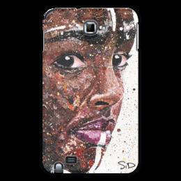 "Чехол для Samsung Galaxy Note ""Эфиопка"" - арт, девушка, африка, шоколад, глаза"