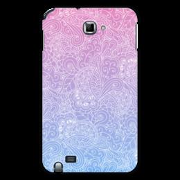 """Чехол для Samsung Galaxy Note """"Градиентный узор"""" - узор, голубой, розовый, дудл, градиент"""